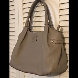 KATE SPADE BERKSHIRE ROAD STEVIE GRAY LEATHER BAG